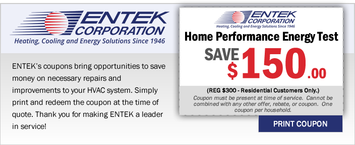 Save $150- Home Performance Energy Test